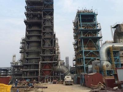 中国石化320管湿电项目安装中